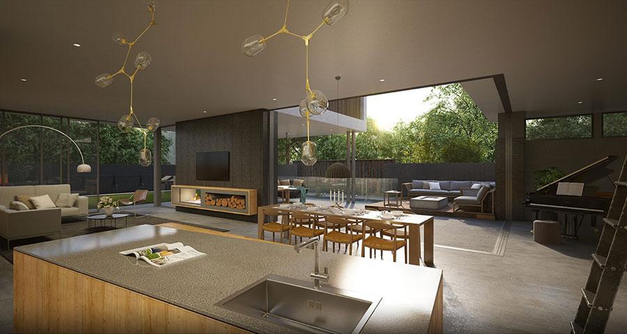 30 idee per arredare una sala da pranzo moderna for Arredamento outdoor design