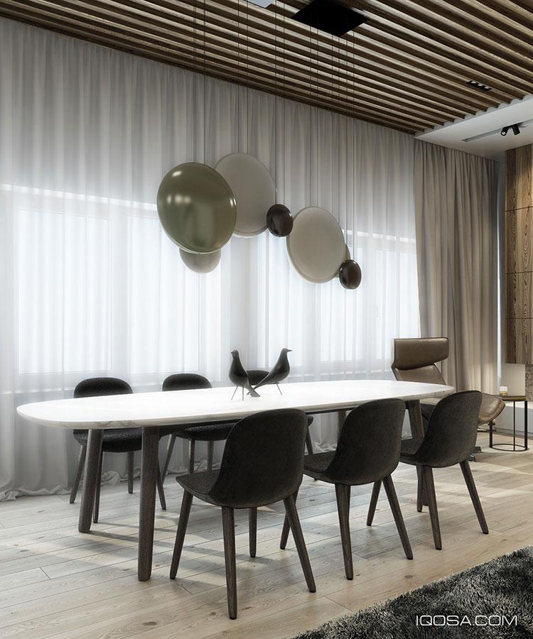 Arredamento per sala da pranzo moderna n.28