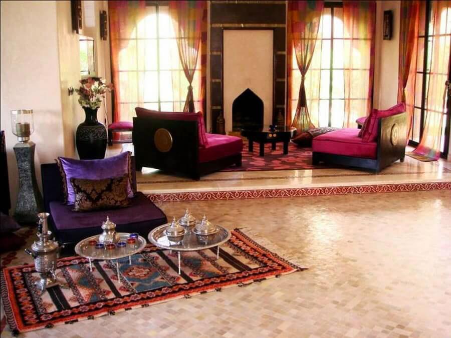 Idee per arredare un salotto marocchino n.17