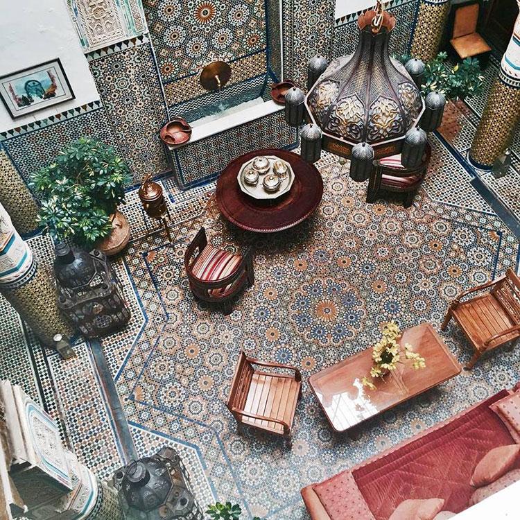 Idee per arredare un salotto marocchino n.18