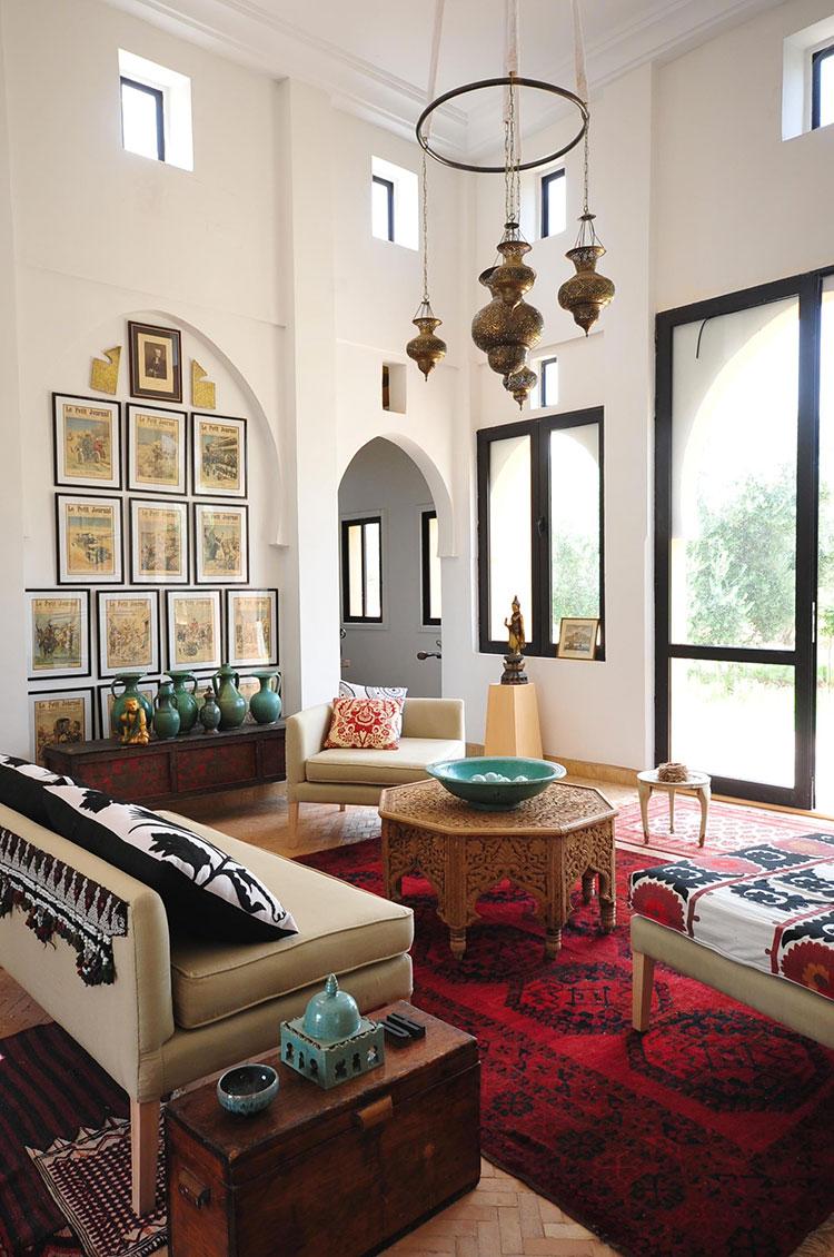 Idee per arredare un salotto marocchino n.21