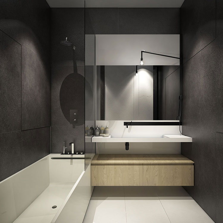 Come arredare loft piccoli spazi dal design moderno for Bathroom interior design for small spaces