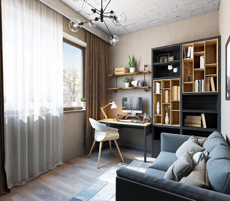 Idee per arredare uno studio piccolo in casa n.06