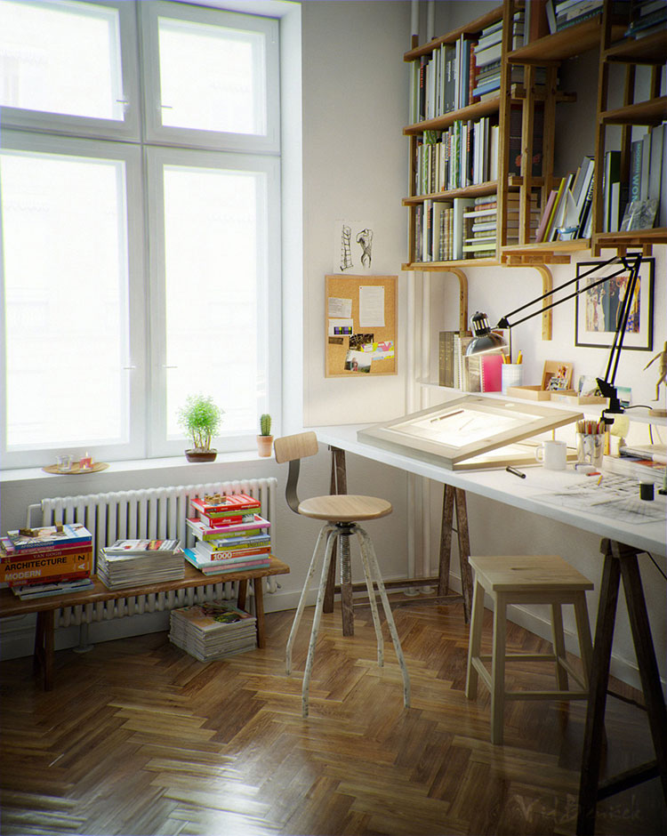 Idea per arredare uno studio in casa n.03
