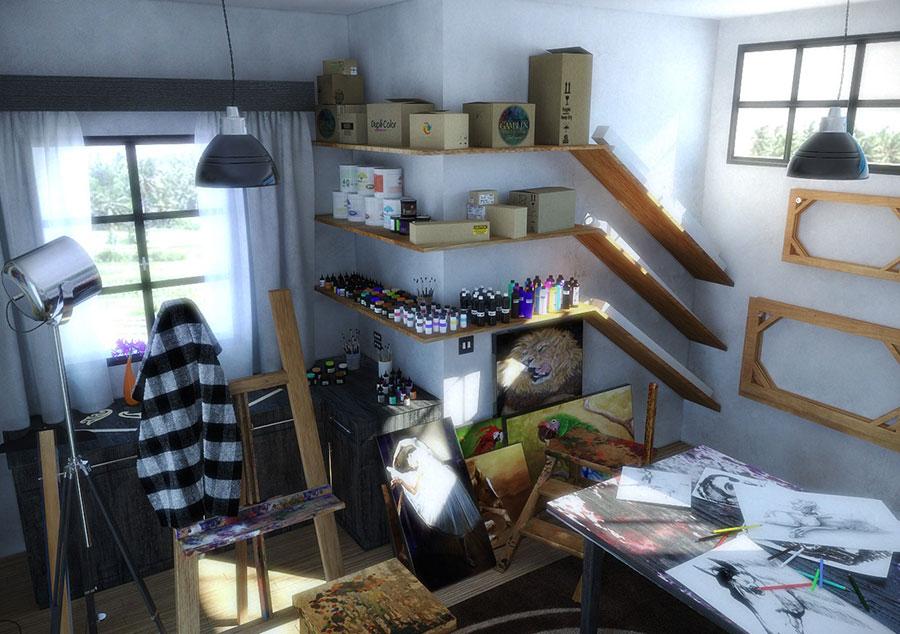 Idea per arredare uno studio in casa n.06