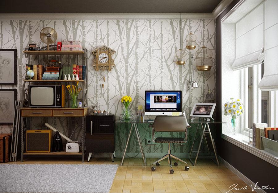 20 idee di design per arredare uno studio in casa
