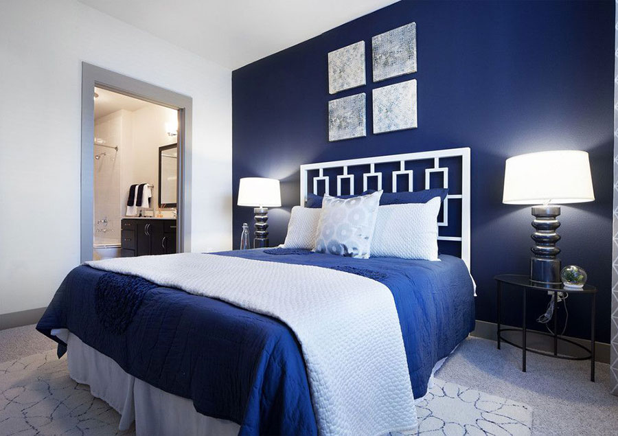 40 idee per colori di pareti per la camera da letto for Blue and white bedroom wallpaper