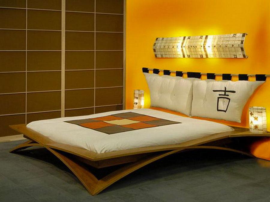 Camera da letto con pareti gialle n.1