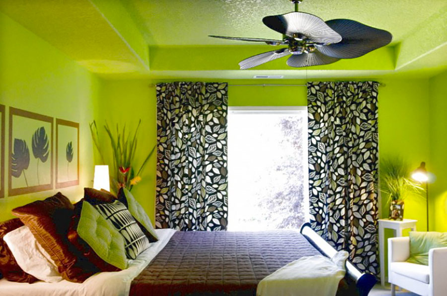 40 idee per colori di pareti per la camera da letto for Lime green black and white room ideas