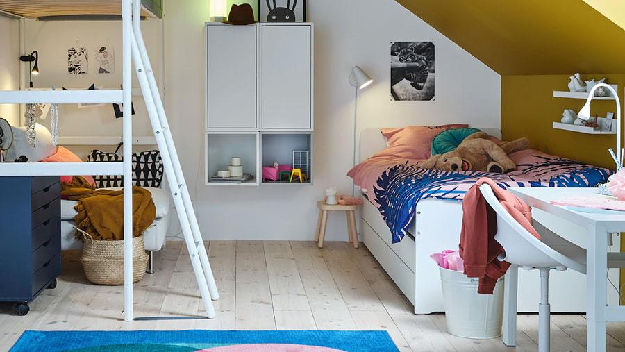 Modello di cameretta moderna per ragazze Ikea n.04