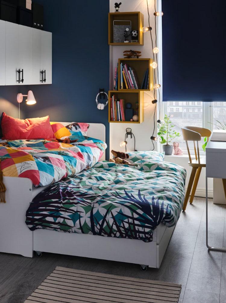 Modello di cameretta moderna per ragazze Ikea n.05