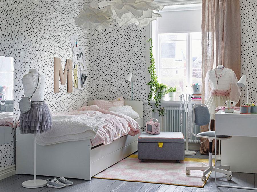Modello di cameretta moderna per ragazze Ikea n.06