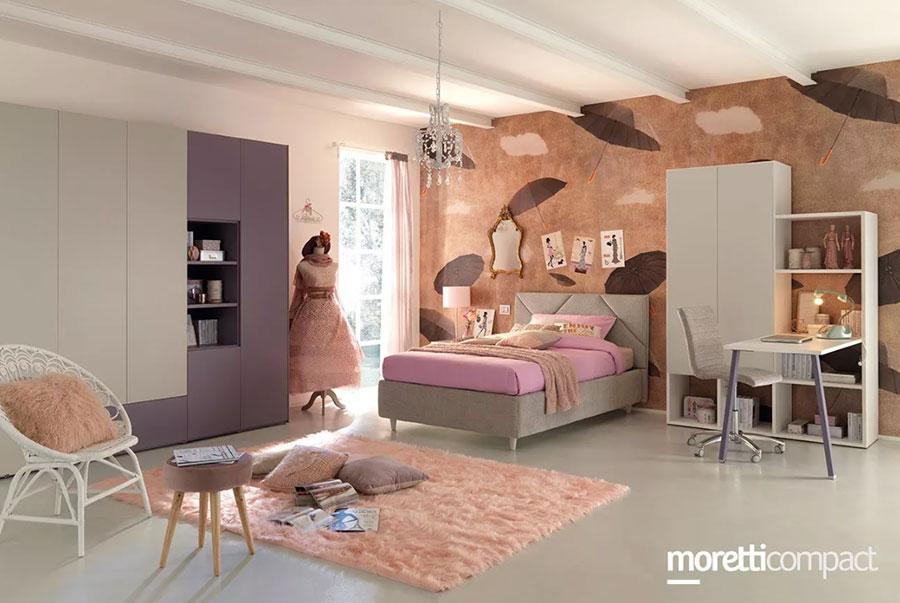 Modello di cameretta moderna per ragazze Moretti n.03