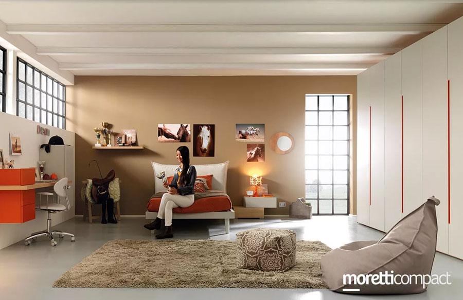 Modello di cameretta moderna per ragazze Moretti n.04
