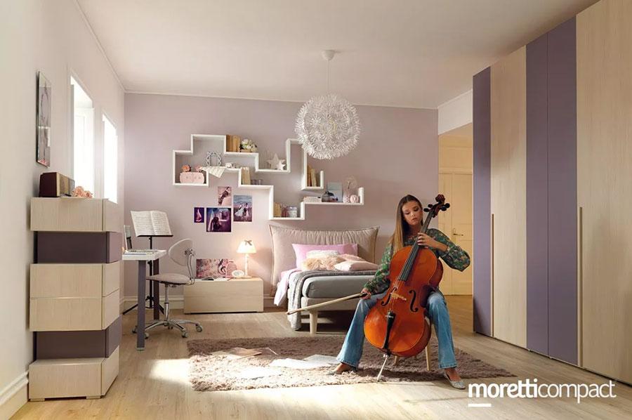 Modello di cameretta moderna per ragazze Moretti n.05