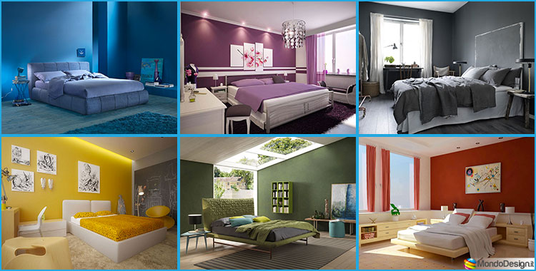 abbastanza 40 Idee per Colori di Pareti per la Camera da Letto | MondoDesign.it OG94