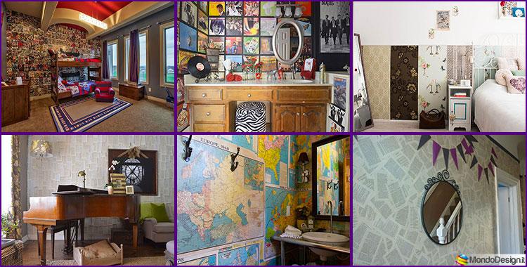 idee decorare pareti tecnica decoupage idee per il