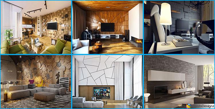 Rivestimenti per pareti del soggiorno 30 idee di design for Idee decorazioni pareti