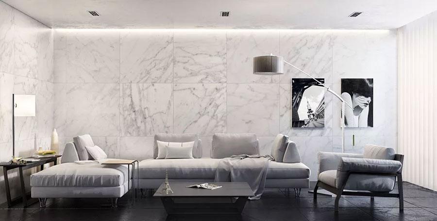 Idee per rivestire le pareti del soggiorno