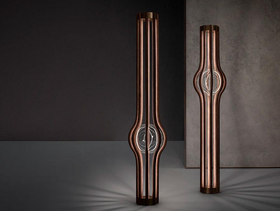 Modello di lampada da terra dal design particolare n.32