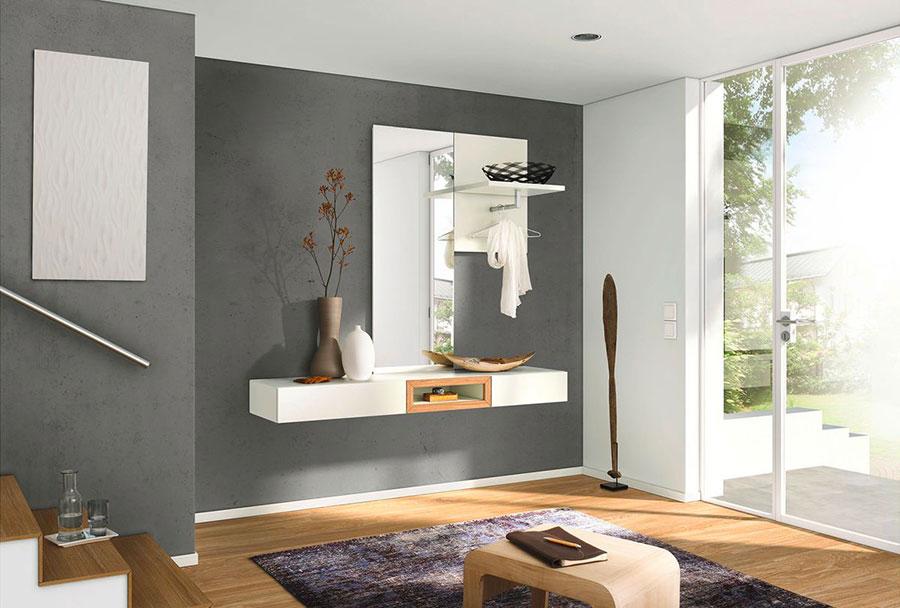 Modello di mobile per ingresso con specchio dal design moderno n.01
