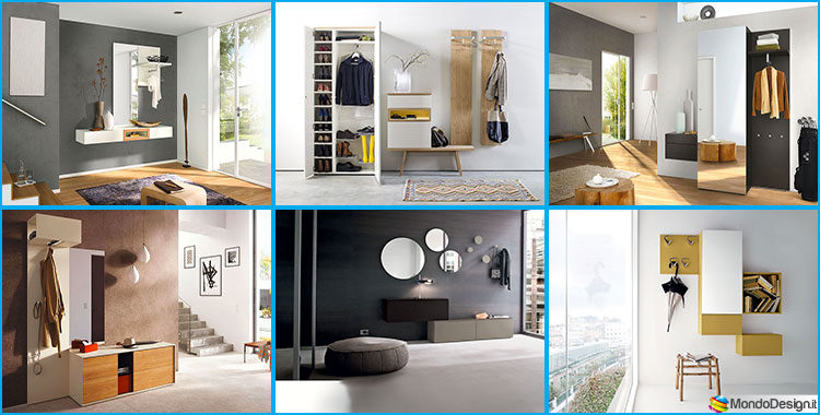Mobili per ingresso moderni dal design particolare - Mobili ingresso con specchio ...
