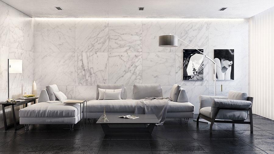 Rivestimento di design per pareti del soggiorno n.02