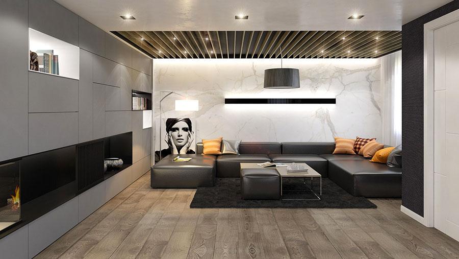 Rivestimento di design per pareti del soggiorno n.03