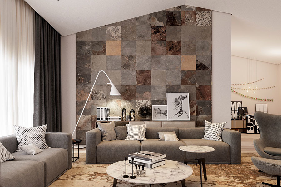 Beautiful Idee Per Parete Soggiorno Photos - Design Trends 2017 ...