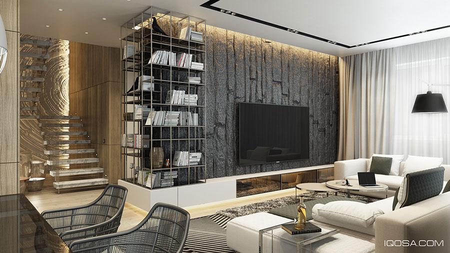 Rivestimenti per pareti del soggiorno 30 idee di design for Rivestimento parete salotto