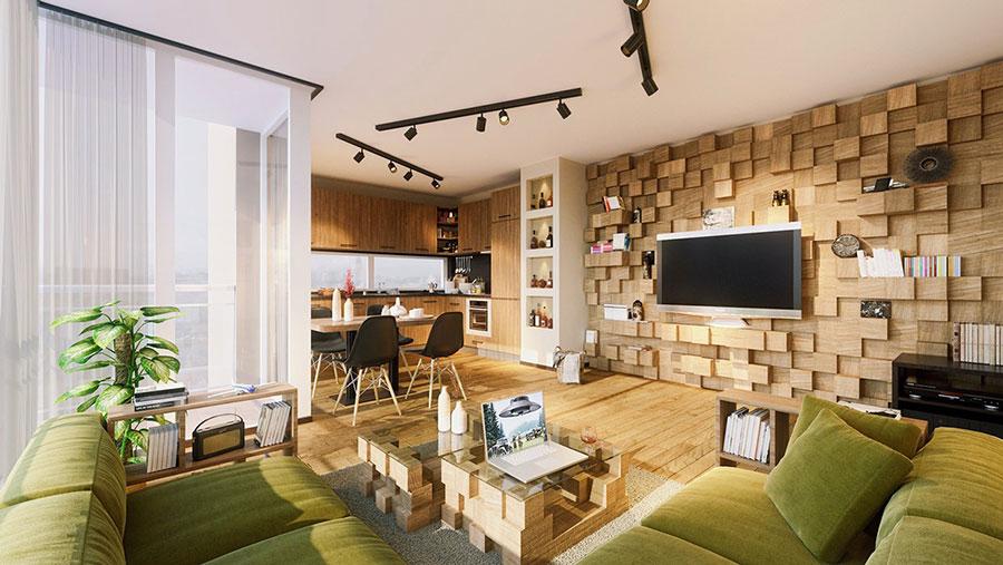 Rivestimento di design per pareti del soggiorno n.06
