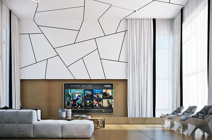 Rivestimento di design per pareti del soggiorno n.08