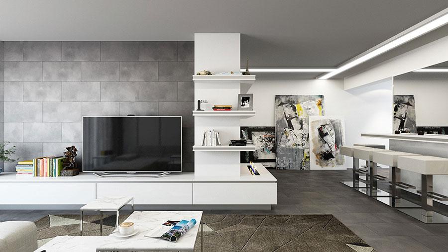 Rivestimento di design per pareti del soggiorno n.09