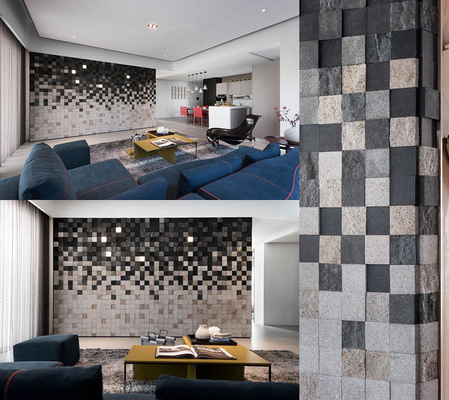 Rivestimento di design per pareti del soggiorno n.11