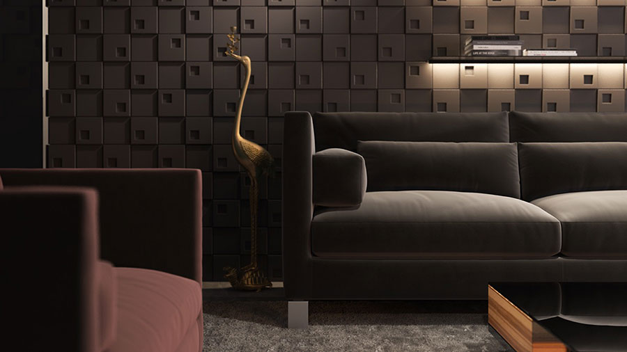 Rivestimento di design per pareti del soggiorno n.12