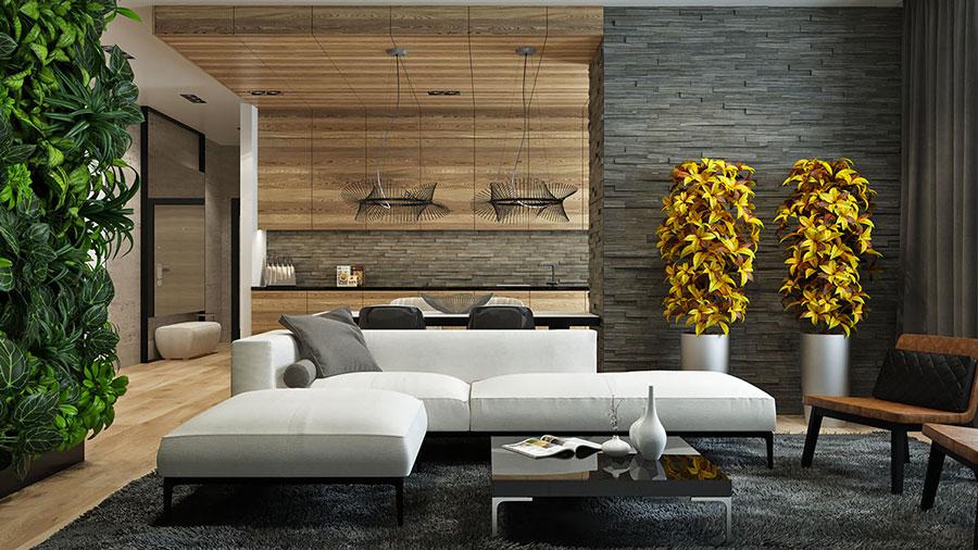 Rivestimento di design per pareti del soggiorno n.14