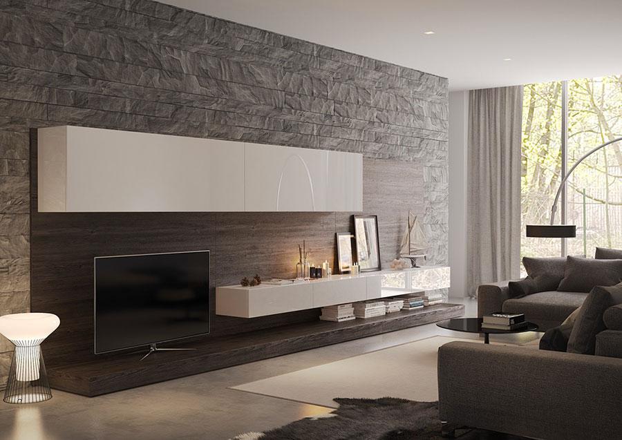 Rivestimenti per Pareti del Soggiorno: 30 Idee di Design ...