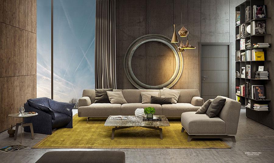 Rivestimento di design per pareti del soggiorno n.16