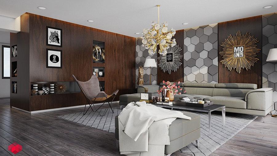 Rivestimento di design per pareti del soggiorno n.17