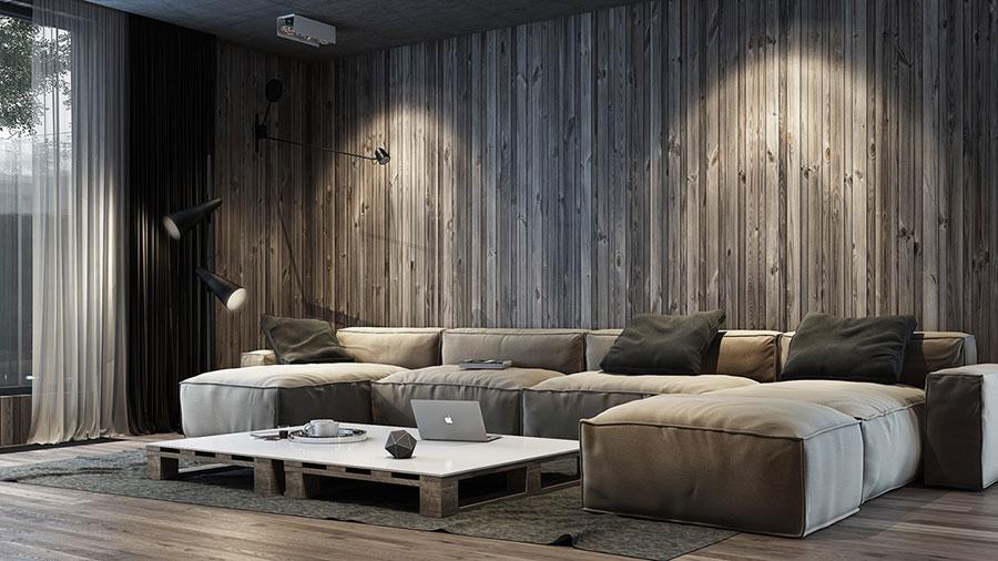 Idee per arredare un soggiorno grigio dal design moderno n.24