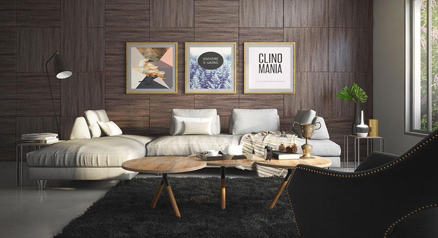 Rivestimento di design per pareti del soggiorno n.19