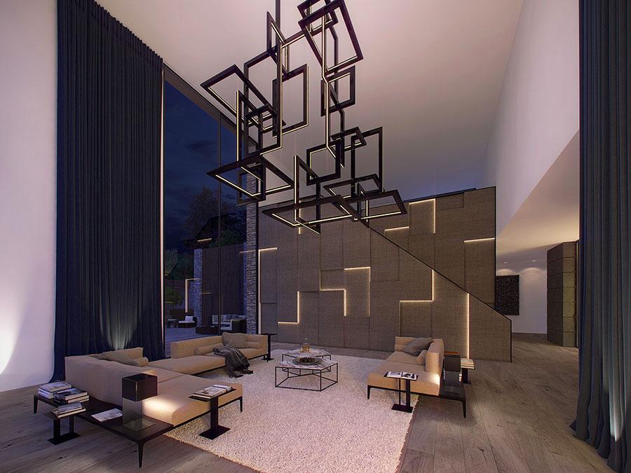Rivestimento di design per pareti del soggiorno n.21