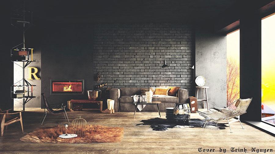 Rivestimento di design per pareti del soggiorno n.22