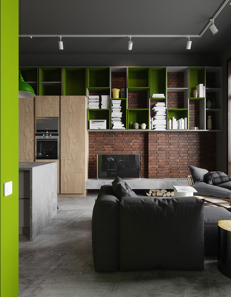 Rivestimento di design per pareti del soggiorno n.23