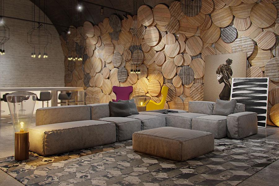 rivestimenti per pareti del soggiorno 30 idee di design. Black Bedroom Furniture Sets. Home Design Ideas