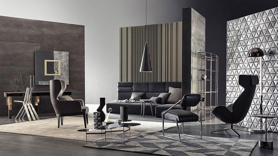 Rivestimento di design per pareti del soggiorno n.28