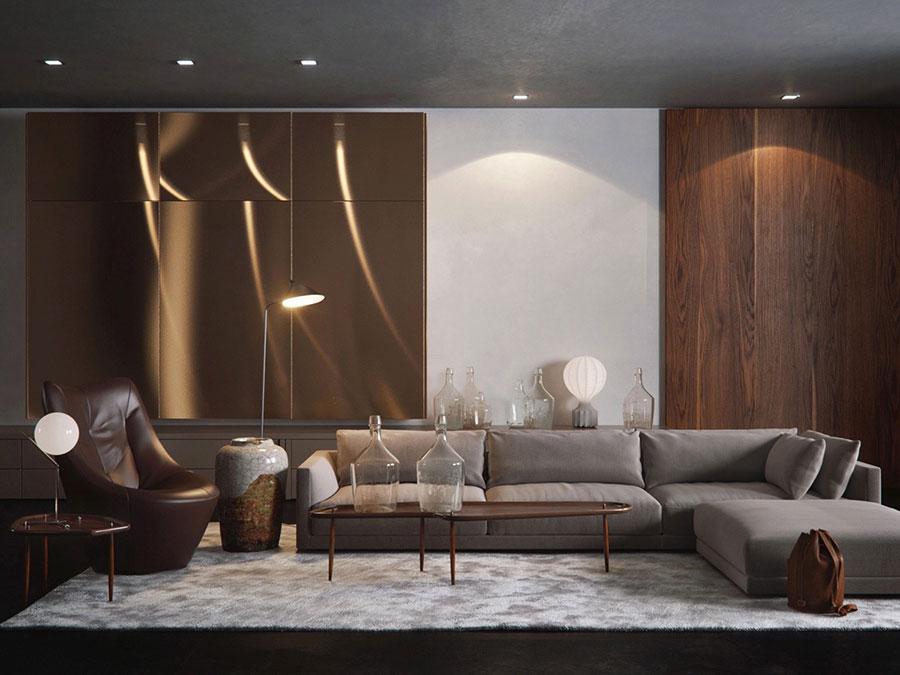 Salotto arredato in stile vintage - contemporaneo n.03