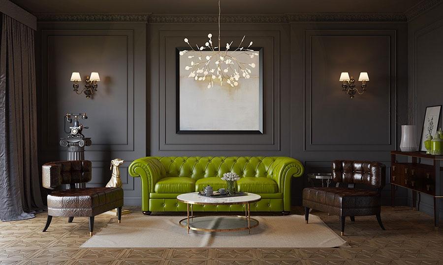 Salotto arredato in stile vintage - contemporaneo n.16