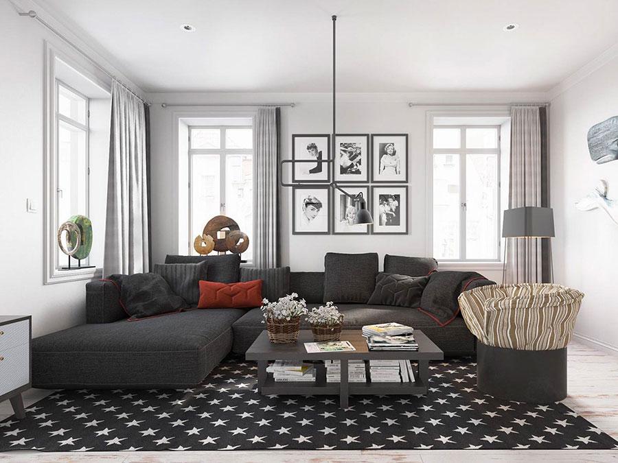 Salotto arredato in stile vintage - contemporaneo n.20