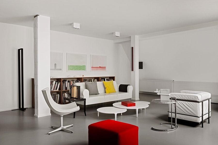 Salotto arredato in stile vintage - contemporaneo n.21
